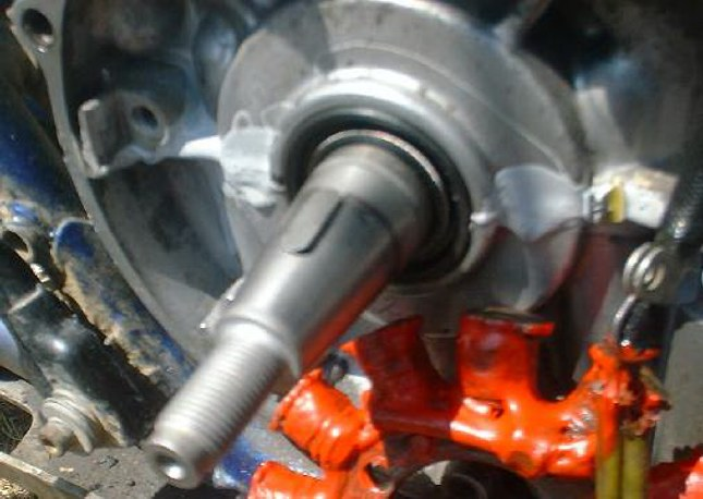 Stock Keyway in the Crankshaft